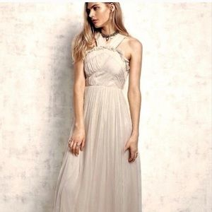 NWT FP Needle & Thread chiffon bodice gown